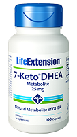 7-Keto DHEA Metabolite 25 mg 100 capsules by Life Extension.