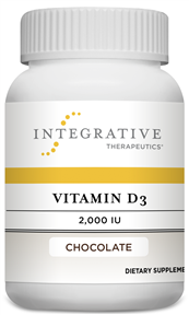 Vitamin D3 2000 IU Chocolate(Integrative Therapeutics) 120 Chewable Tablets